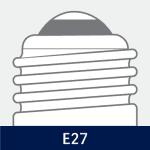 Sokkel på E27 pærer