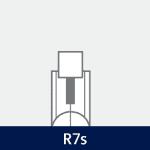 Sokkel på R7s pære