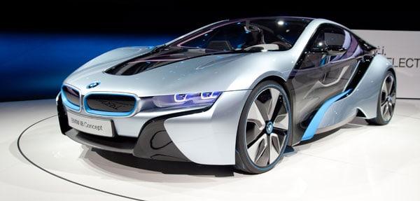 Den nye BMW i8 benytter laserlys