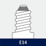 Sokkel på E14 pære
