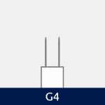 Sokkel på G4 pære