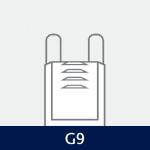 Sokkel på G9 pære