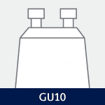 Sokkel på GU10 pære