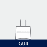Sokkel på GU4 pære